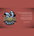 dj cool party web banner design sound mixer and vector image vector image