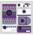 Ethnic ornament Document template design vector image