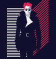 fashion man in style pop art vector image