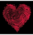 Fingerprint heart vector image vector image