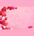 frame hearts with an empty space under text vector image vector image