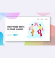 friendship and solidarity website landing page vector image