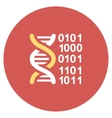 Genome Code Flat Round Icon vector image vector image