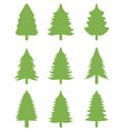 green christmas trees vector image