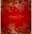 Greeting card for wedding or valentine day vector image vector image