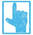 Hand Pointer Up Icon Rubber Stamp vector image