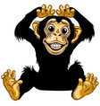 happy cartoon chimp vector image vector image