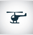 helicopter icon simple flat element concept design vector image vector image