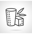 Herbal tea simple line icon vector image