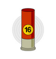 hunting weapon cartridge ammunition bullet with vector image vector image