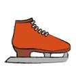 ice skates isolated vector image vector image