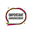 important announcement symbol special offer sign