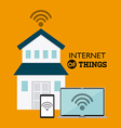 internet things vector image vector image