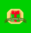 isolated christmas sale gift box label vector image vector image