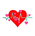 isolated signal heartbeat icon vector image vector image