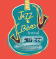 jazz and blues hand drawn poster vector image
