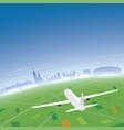 krakow skyline flight destination vector image vector image