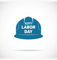 labor day symbol safety helmet icon tribute vector image