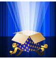 Magic box with mysterious light vector image vector image