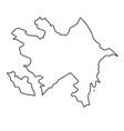 map azerbaijan - outline vector image vector image