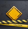 metal warning sign vector image