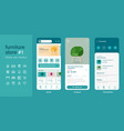 mobile app user interface ui kit ux of furniture vector image vector image