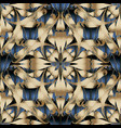 modern abstract damask 3d seamless pattern vector image