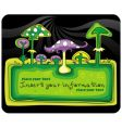 mushrooms banner vector image vector image