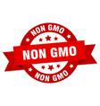 non gmo ribbon non gmo round red sign non gmo vector image vector image
