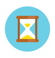 old hourglass icon simple flat style sandglass vector image vector image