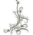 ornamental floral corner for your vector image vector image