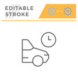parking time editable stroke line icon vector image vector image