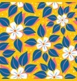 pattern with tropical flowers vector image