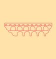 Pont Du Gard vector image