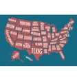 poster map united states america with state vector image vector image