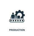 production icon symbol creative sign from vector image vector image