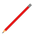 red pencil icon realistic style vector image