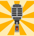 retro microphone type icon journalist vector image vector image