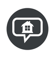 Round dialog house icon vector image