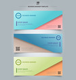 set of banner web abstract presentation template vector image vector image