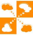 Set of Cloud Shape Speech Bubbles vector image