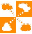 Set of Cloud Shape Speech Bubbles vector image vector image