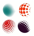 Set of colorful logos halftone Circles Logo vector image vector image