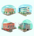 set of service department or building vector image