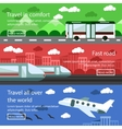 Set of transportation banners in flat design vector image