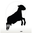 sheep silhouette with jumping pose vector image vector image