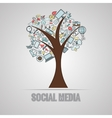 Social media doodles vector image