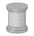 Spool of thread icon black monochrome style vector image vector image