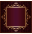 square frame with sketch pattern vector image vector image