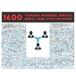 Teamwork Icon with Large Pictogram Collection vector image vector image